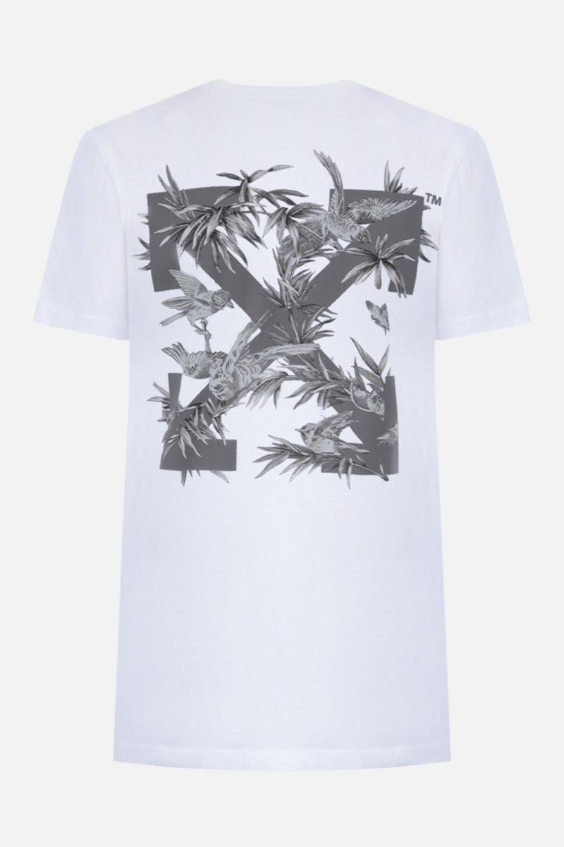OFF WHITE: t-shirt Birds Reflective in cotone Colore Multicolore_2