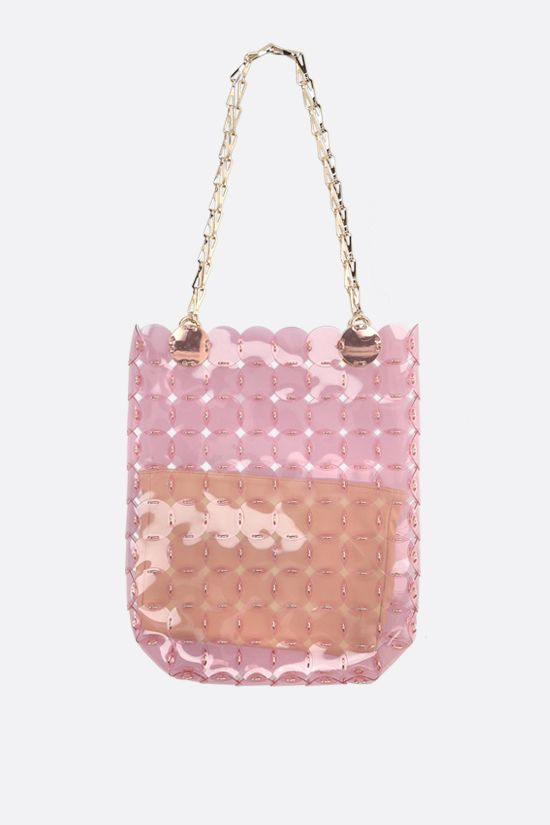 PACO RABANNE: tote bag with PVC dics Color Pink_1