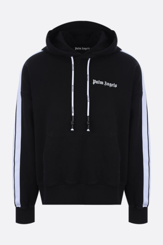 PALM ANGELS: contrasting bands oversize cotton hoodie Color Black_1