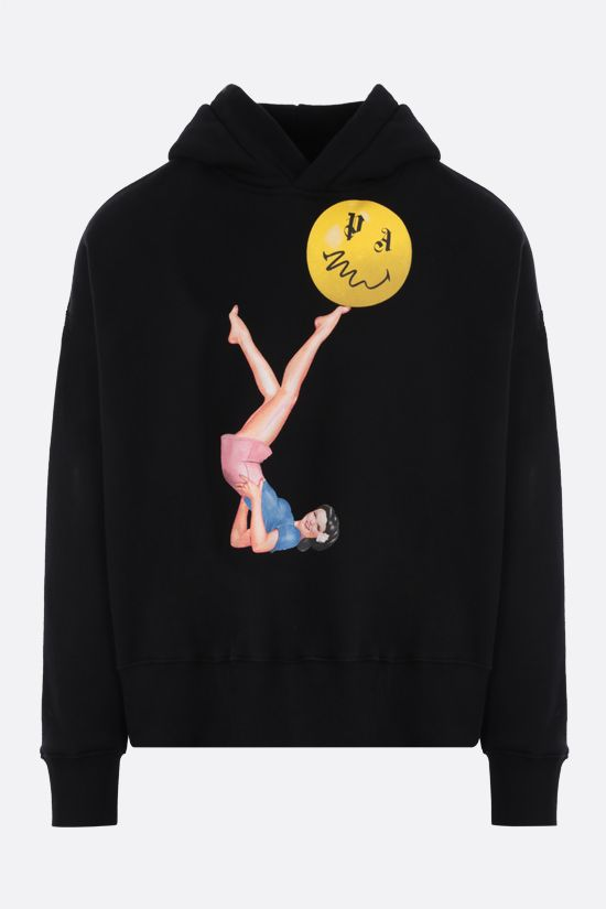 PALM ANGELS: Juggler Pin Up oversize cotton hoodie Color Black_1