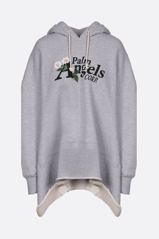 PALM ANGELS: Daisy Logo oversize cotton hoodie Color Grey_1