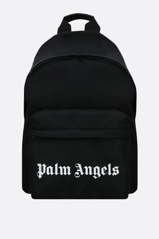 PALM ANGELS: Essential small nylon backpack Color Black_1