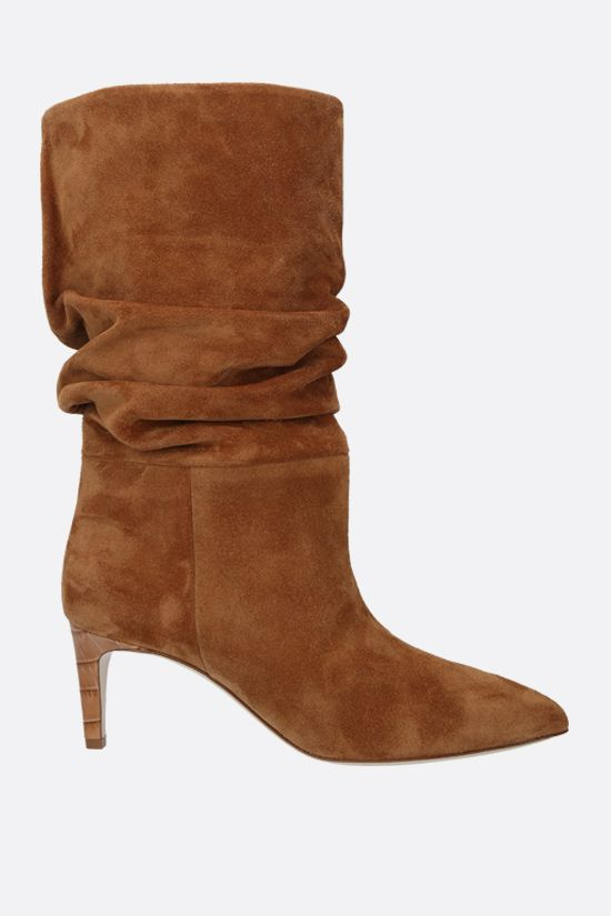 PARIS TEXAS: slouchy-effect suede boots Color Neutral_1