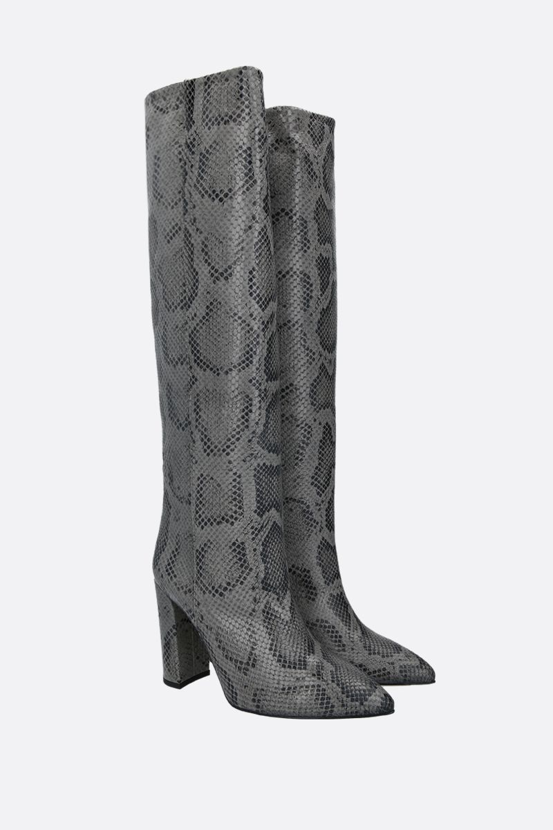 PARIS TEXAS: python embossed leather boots Color Grey_2