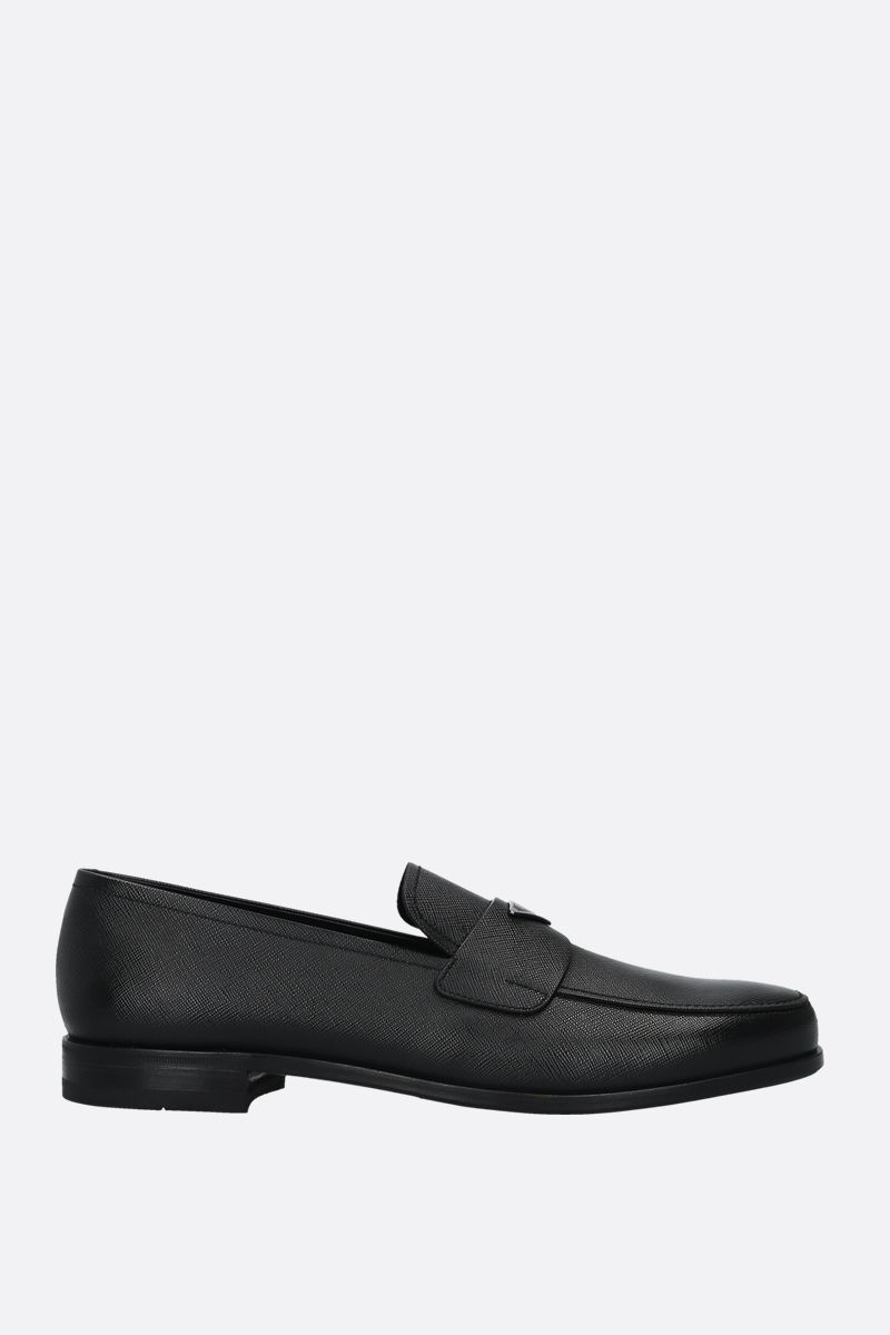 PRADA: Saffiano leather loafers Color Black_1