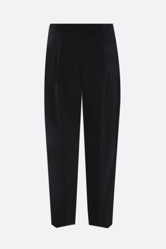 PRADA: stretch technical fabric cropped pants Color Black_2