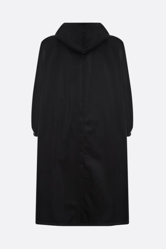 PRADA: Re-Nylon oversize raincoat Color Black_2