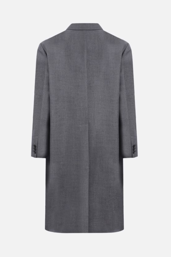 PRADA: single-breasted lightweight wool overcoat Color Grey_2