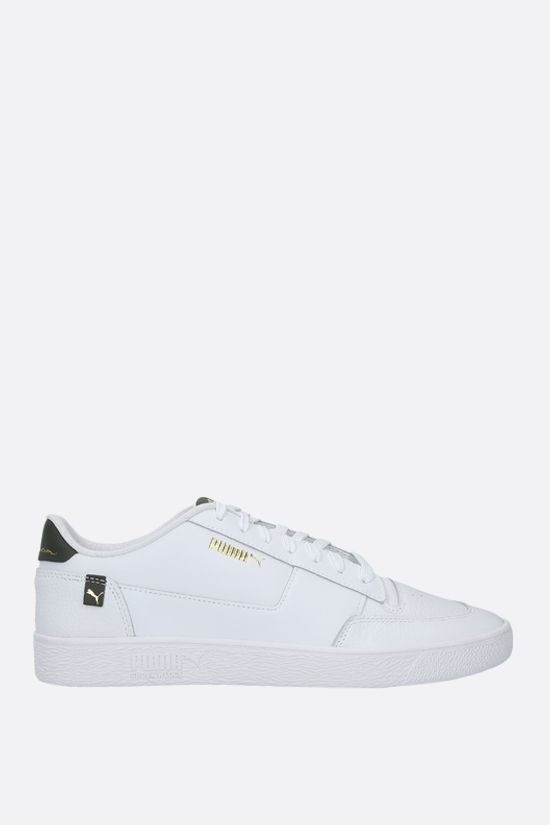 PUMA: Ralph Sampson MC Pop sneakers in smooth and grainy leather Color White_1