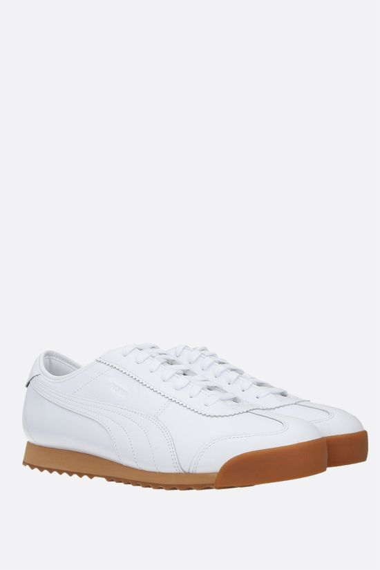 PUMA: Puma x Maison Kitsunè Roma smooth leather sneakers Color White_2