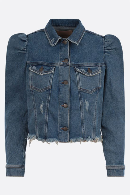 RETROFETE: Rissa stretch denim cropped jacket Color Blue_1