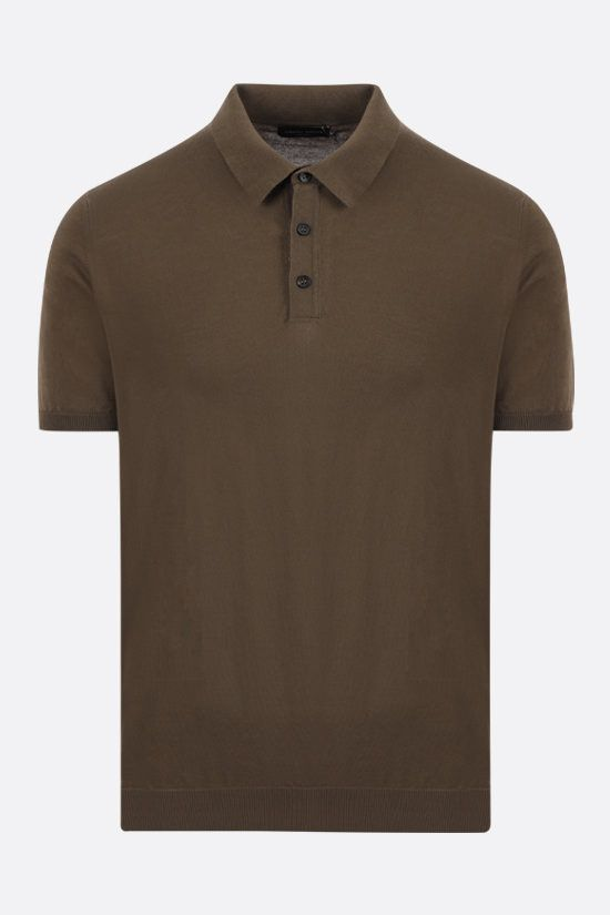 ROBERTO COLLINA: cotton knit polo shirt Color Green_1
