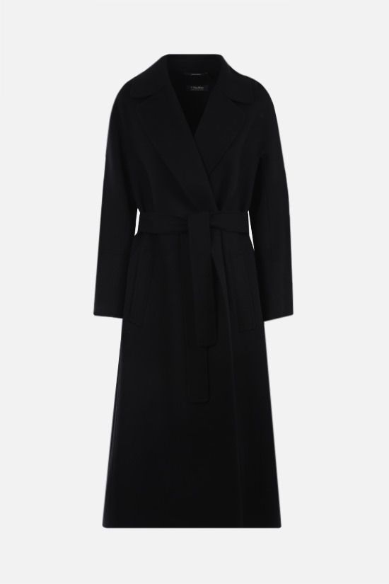 'S MAX MARA: Elisa wool wrap coat Color Black_1