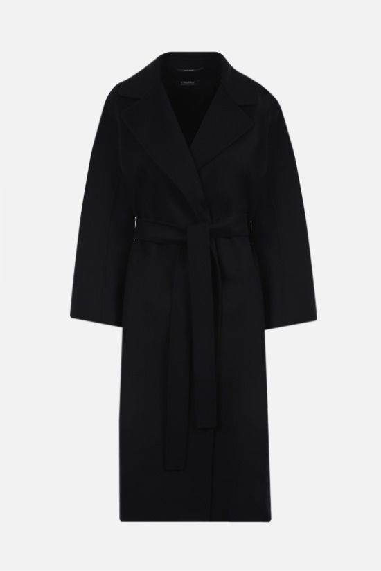 'S MAX MARA: Aria wool wrap coat Color Black_1