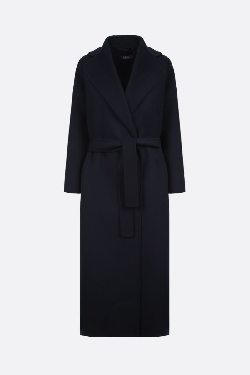 'S MAX MARA: Poldo wool wrap coat Color Blue_1