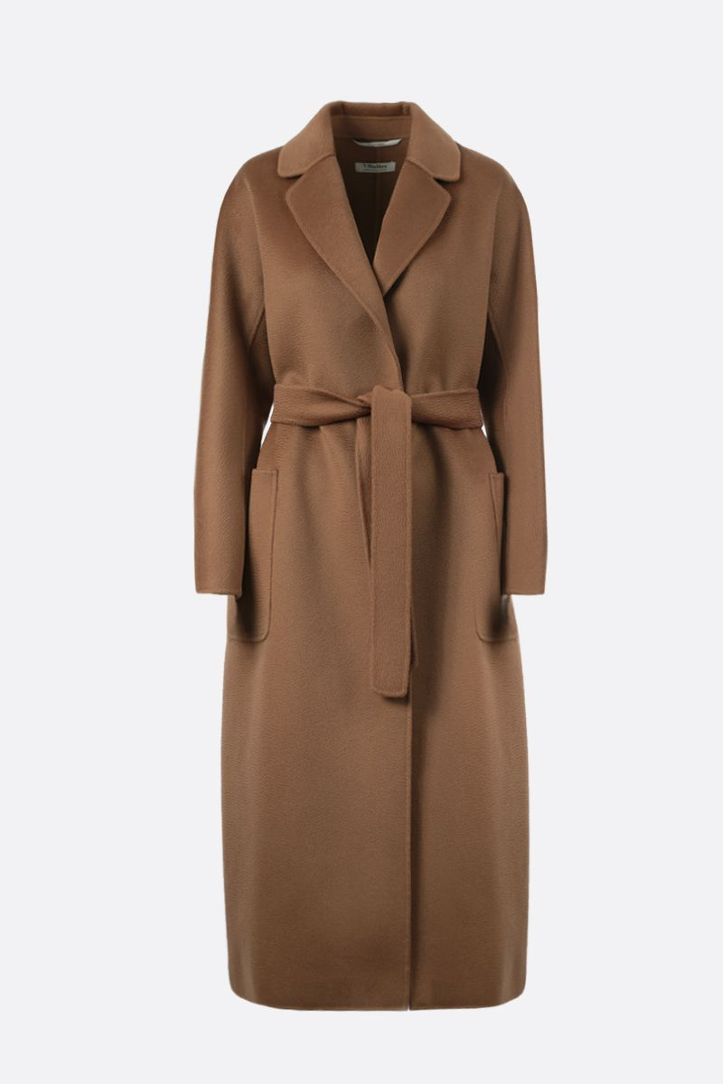 'S MAX MARA: Amore wool cashmere blend wrap coat Color Neutral_1