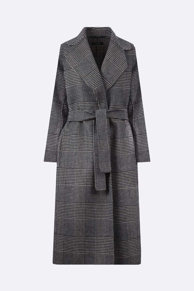'S MAX MARA: Fiorito pure new wool wrap coat Color Black_1