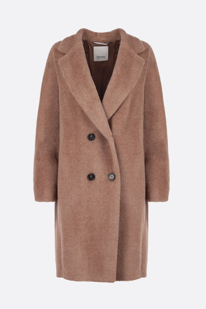 'S MAX MARA: Locri double-breasted alpaca wool blend coat Color Neutral_1