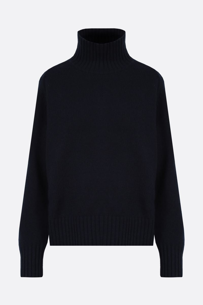 'S MAX MARA: Rubino wool cashmere blend pullover Color Blue_1