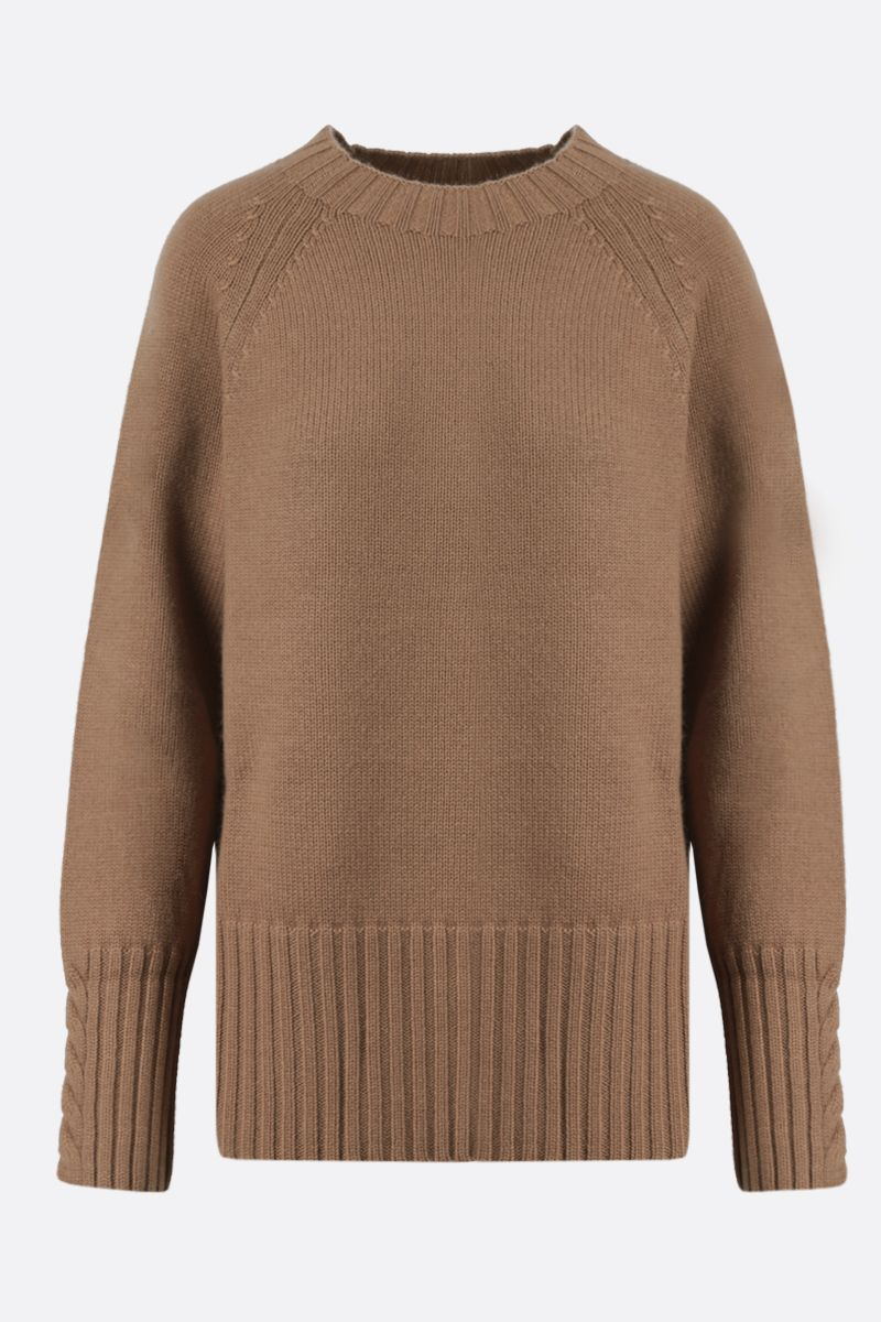 'S MAX MARA: Lilies wool cashmere blend pullover Color Neutral_1