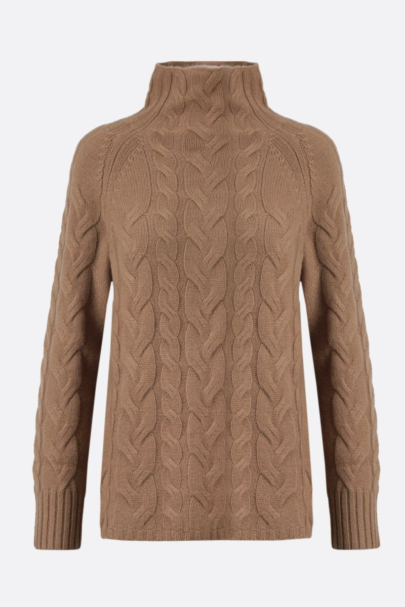 'S MAX MARA: Hazel wool cashmere blend pullover Color Neutral_1
