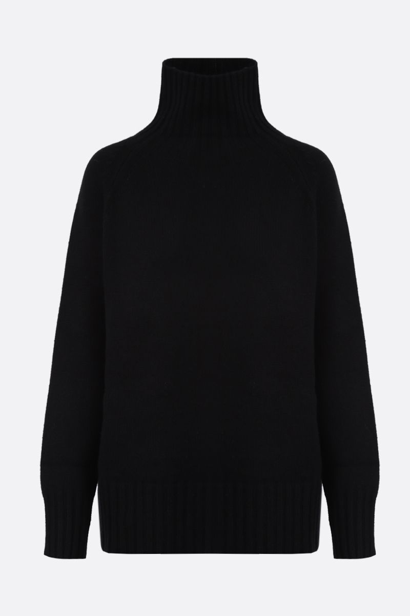 'S MAX MARA: Mantova wool cashmere blend turtleneck Color Black_1