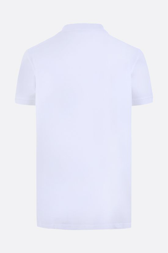 SAINT LAURENT: Monogram cotton polo shirt Color White_2