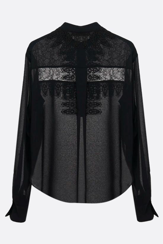 SEE BY CHLOÈ: lace insert georgette blouse Color Black_2