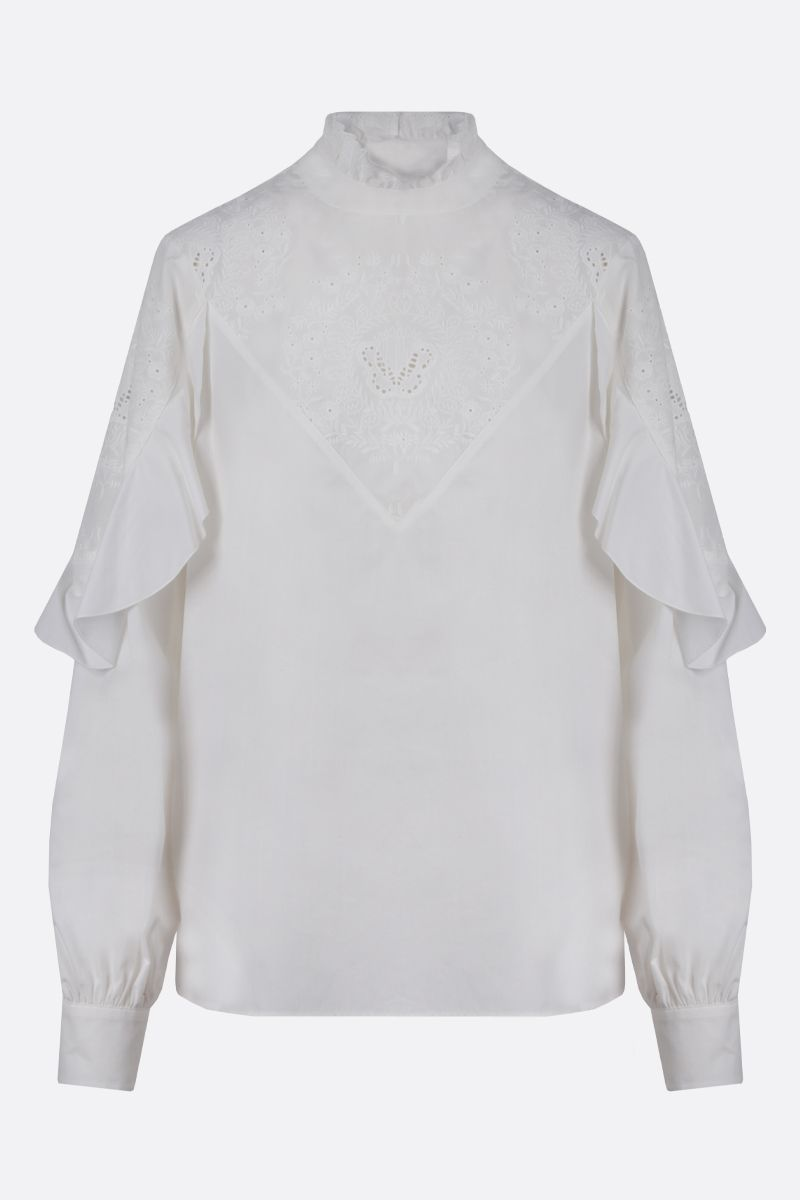 SEE BY CHLOÈ: cotton Victorian blouse Color White_1