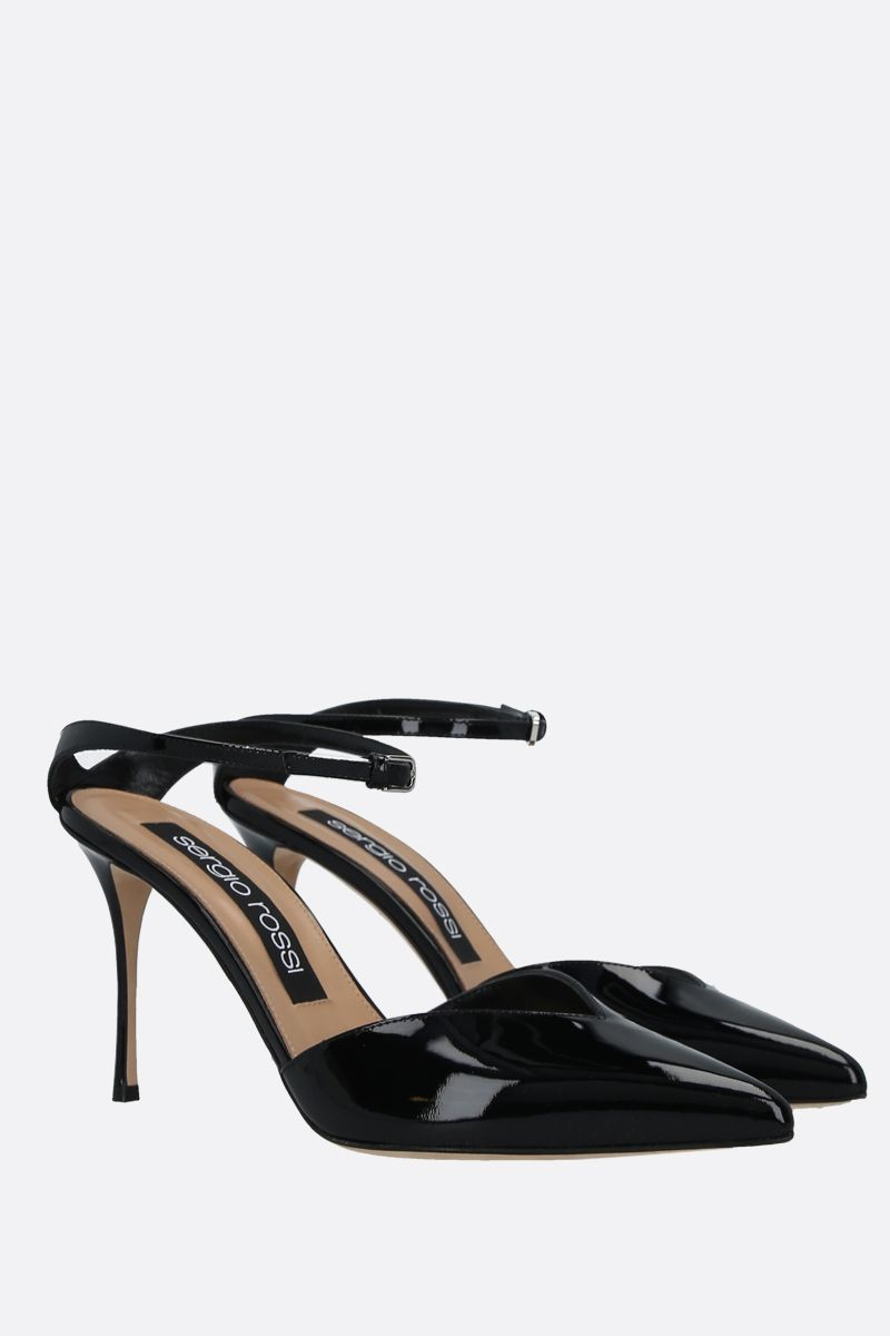 SERGIO ROSSI: Godiva patent leather mules Color Black_2