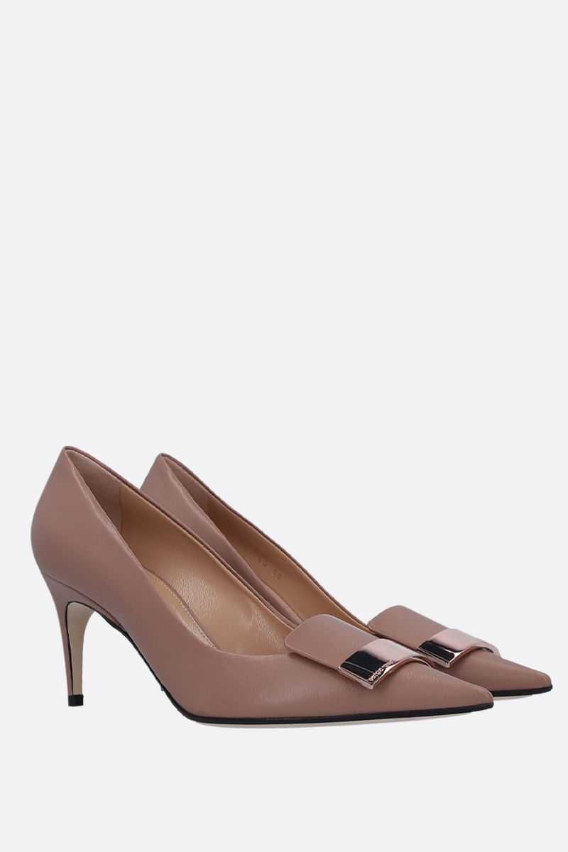 SERGIO ROSSI: SR1 smooth leather pumps_2
