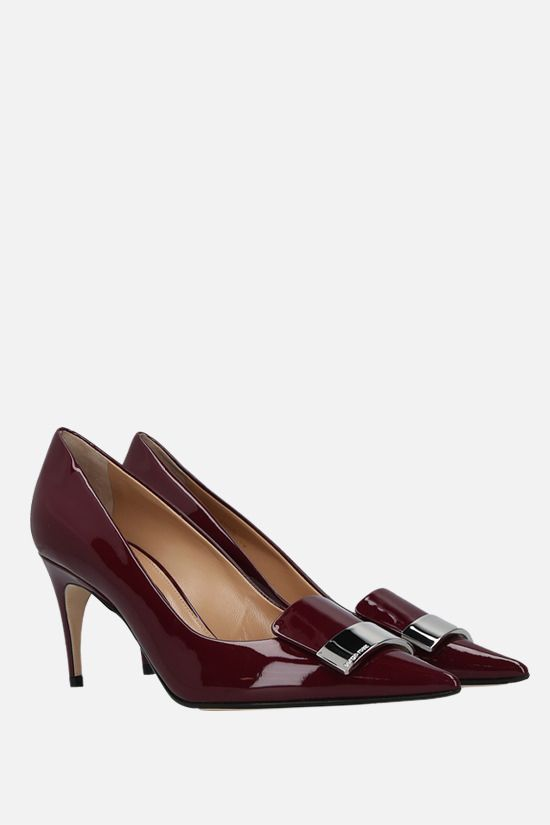 SERGIO ROSSI: SR1 patent leather pumps Color Red_2