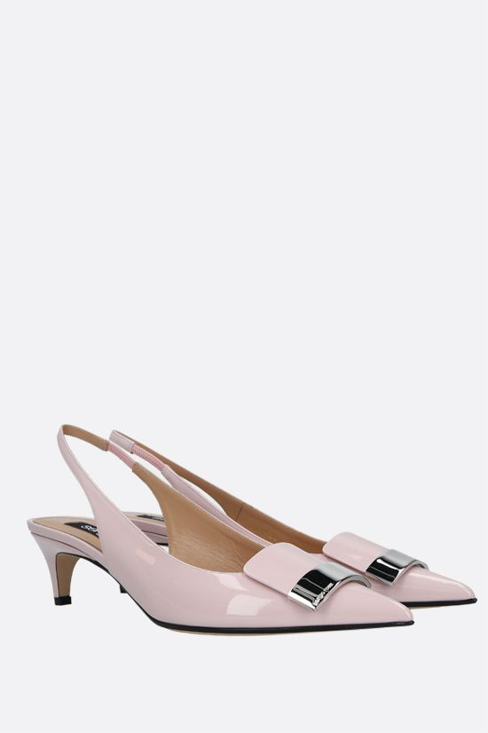 SERGIO ROSSI: sr1 patent leather slingbacks Color Pink_2