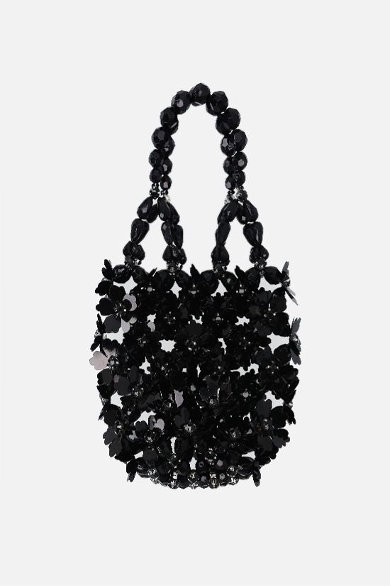 SIMONE ROCHA: crystal-embellished resin handbag Color Black_1