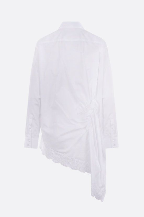 SIMONE ROCHA: drape-detailed cotton asymmetric shirt Color White_2