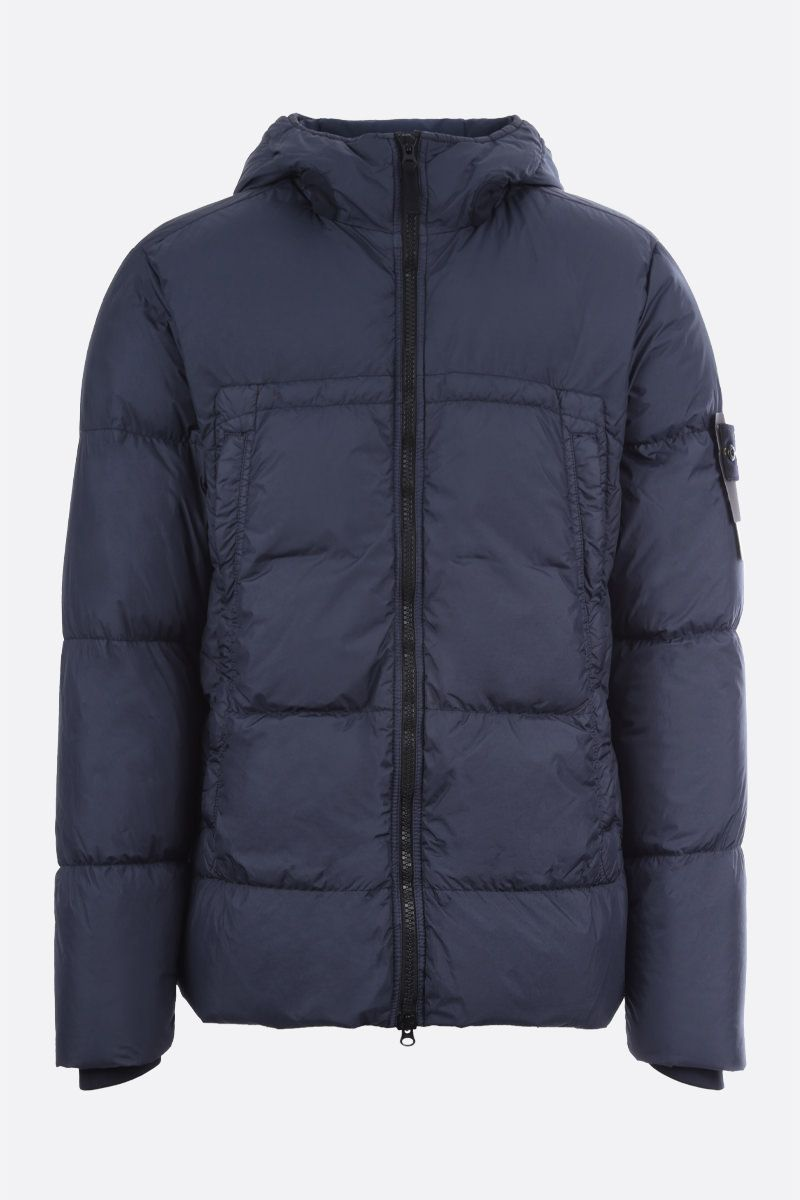 STONE ISLAND: Crickle Reps nylon down jacket Color Blue_1