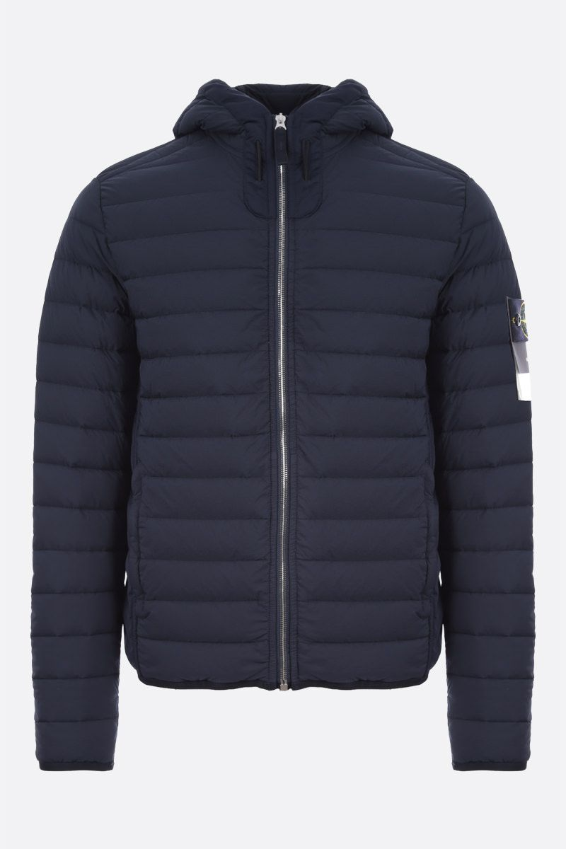 STONE ISLAND: Loom Woven Down Chambers Stretch Nylon-TC down jacket Color Blue_1