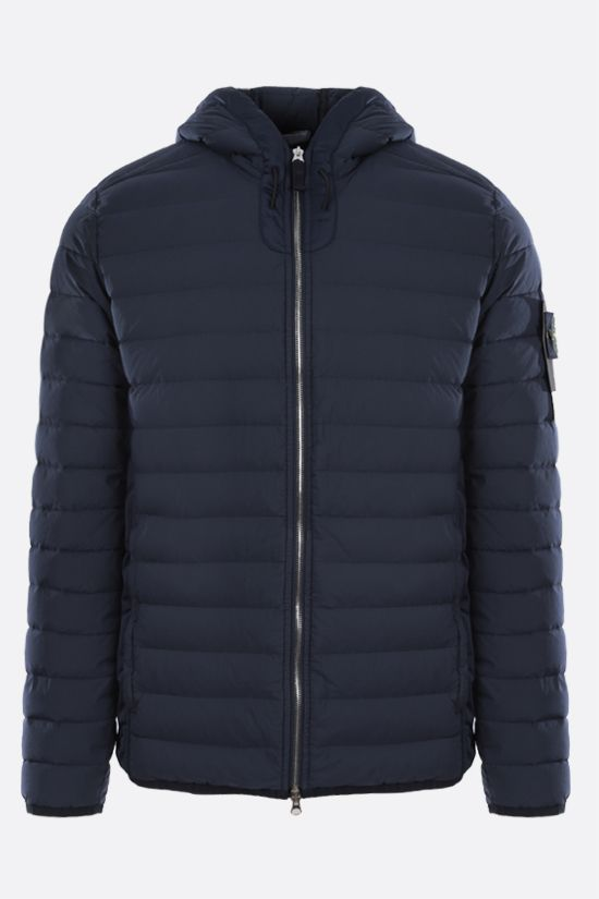 STONE ISLAND: Stretch Nylon-TC down jacket Color Blue_1