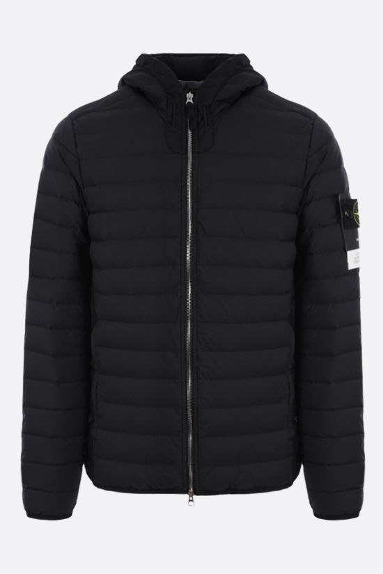 STONE ISLAND: Stretch Nylon-TC down jacket Color Black_1