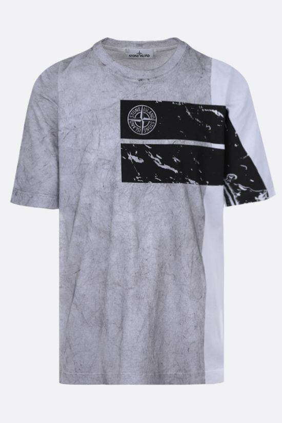 STONE ISLAND: graphic print cotton t-shirt Color Multicolor_1