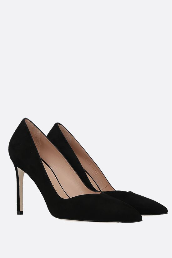 STUART WEITZMAN: Anny suede pumps Color Black_2