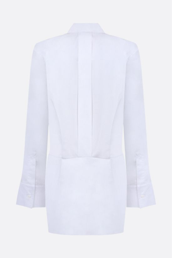 THE ATTICO: Margot cotton shirt minidress Color White_2