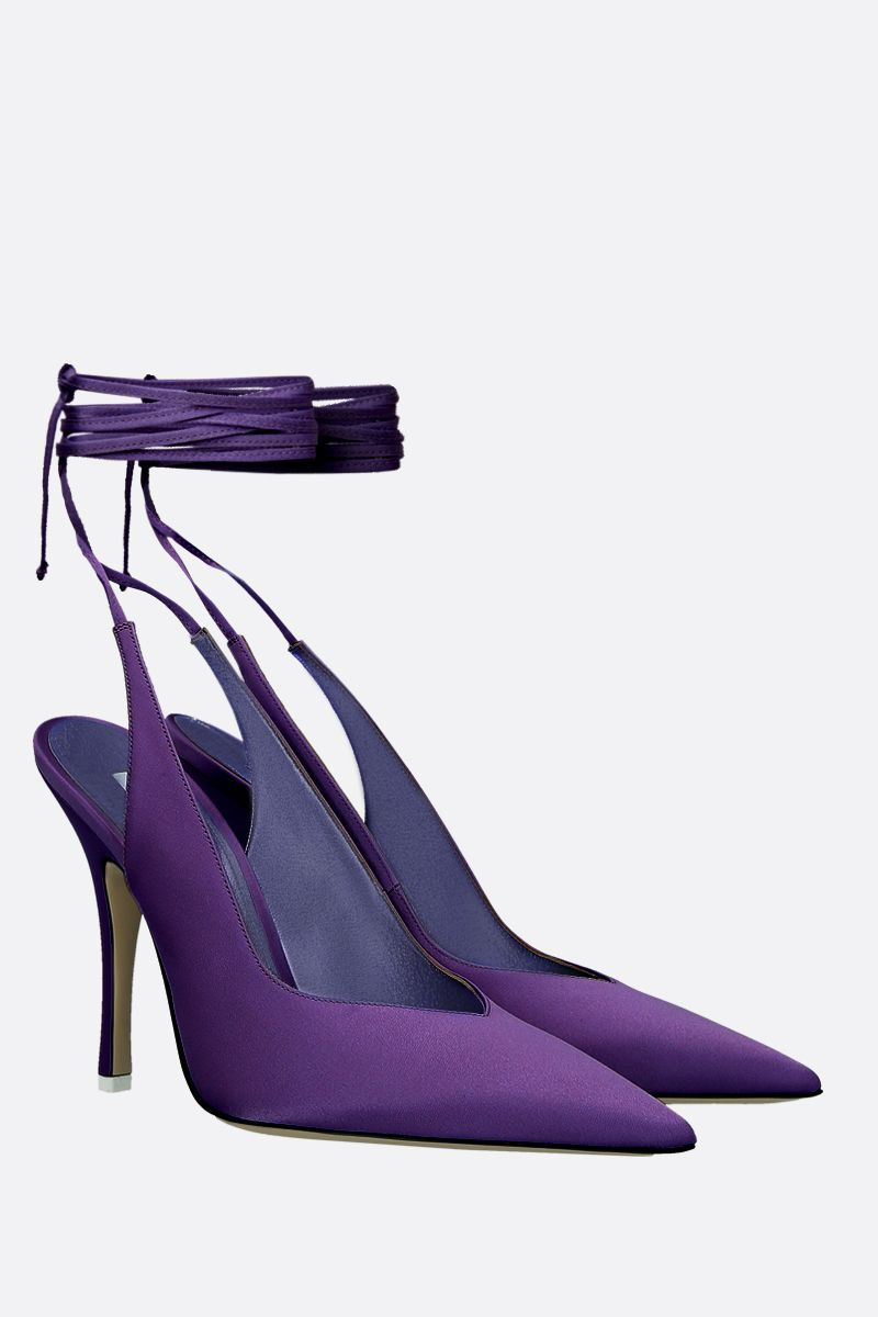 THE ATTICO: slingback Venus in raso Colore Viola_2