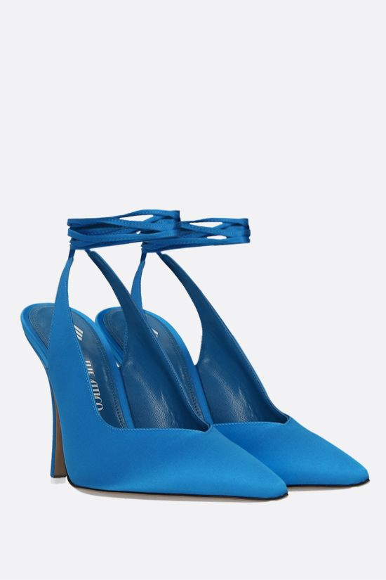 THE ATTICO: Venus satin slingbacks Color Blue_2