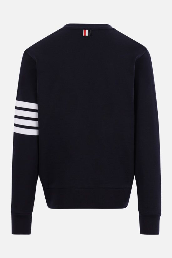 THOM BROWNE: 4-bar detailed cotton cardigan Color Blue_2