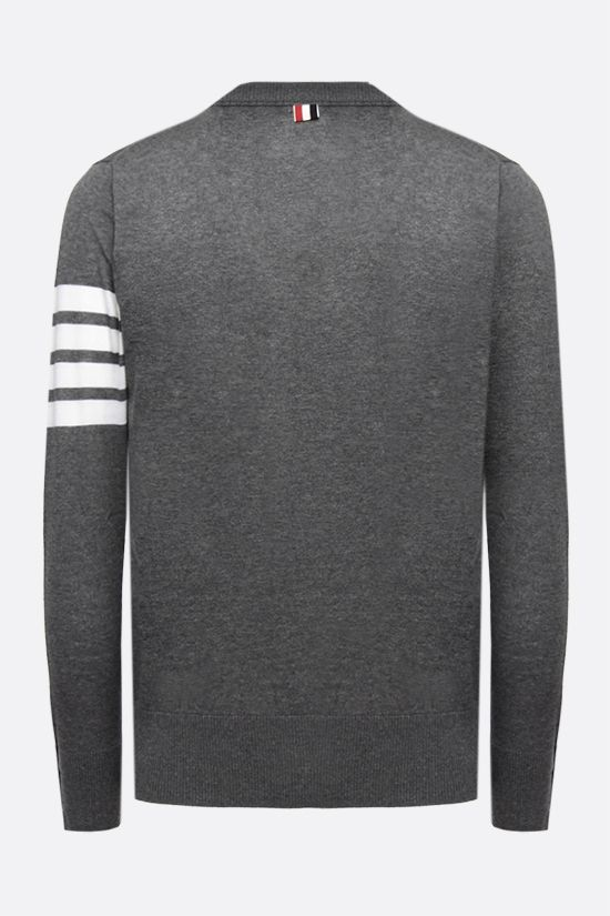 THOM BROWNE: 4-Bar intarsia wool pullover Color Grey_2