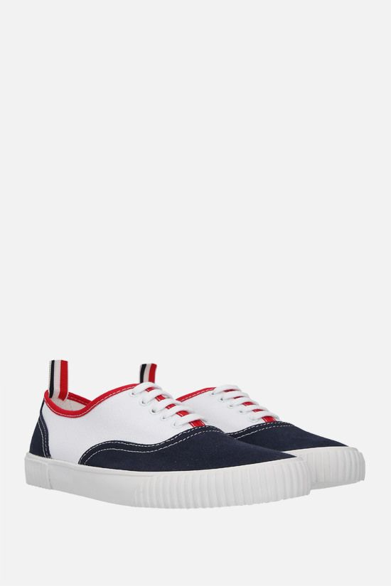 THOM BROWNE: Heritage canvas sneakers Color Multicolor_2