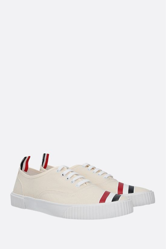 THOM BROWNE: Heritage canvas sneakers Color White_2