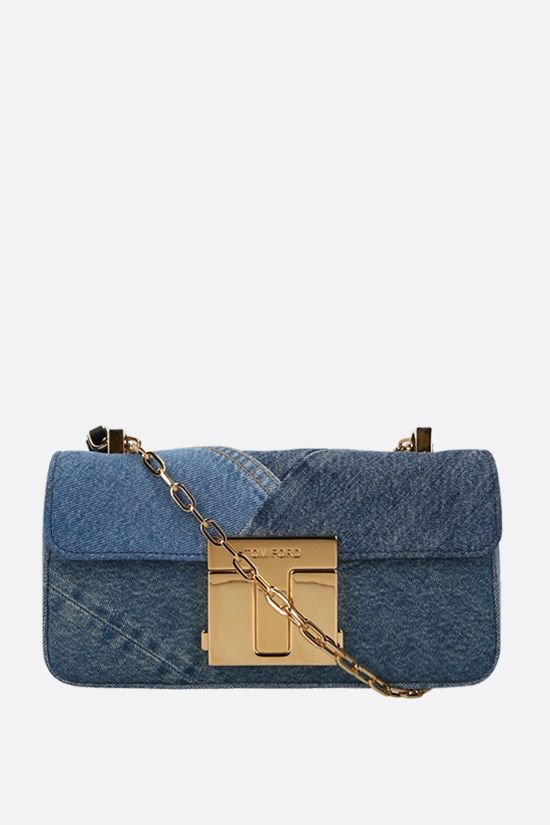 TOM FORD: borsa a tracolla 001 media in denim_1