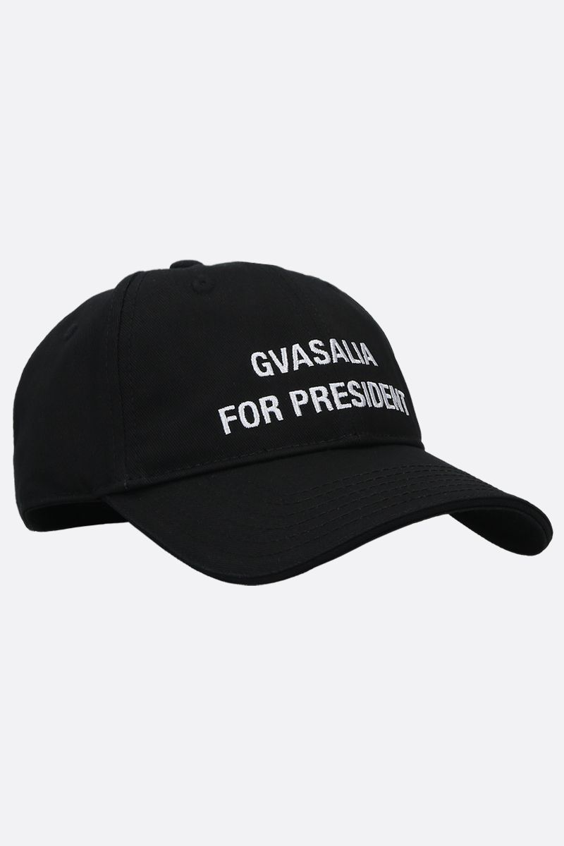 VETEMENTS: Gvasalia for President twill cap Color Black_2